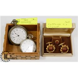 LOT OF 2 ANTIQUE POCKET WATCHES-WALTHAM AND