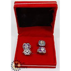 LOT OF 4  FASHION SAPPHIRE EVENING PARTY RINGS