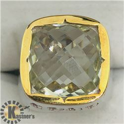 GREEN AMETHYST MEN'S RING