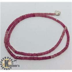 SILVER PINK SAPPHIRE NECKLACE