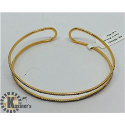 GOLD PLATED SILVER CUBIC ZIRCONIA  BRACELET