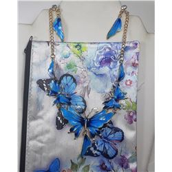 4)  BUTTERFLY POUCH/MAKEUP BAG WITH