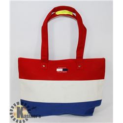 TOMMY HILFIGER REPLICA HAND BAG, TRI COLOR