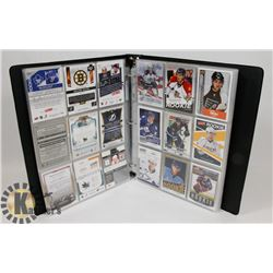 BINDER OF OVER 230 ROOKIE HOCKEY CARDS -