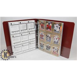 BINDER OF OVER 350 OPEECHEE 2001-2010 HOCKEY CARDS