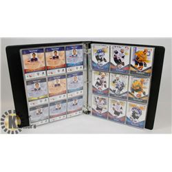 BINDER OF OVER 230 KHL HOCKEY CARDS 2011-12.