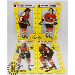 LOT OF 4 HOCKEY HEROES 1975 STAND UPS.