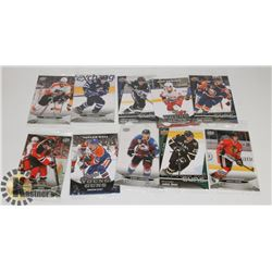 LOT OF 10 JUMBO UPPER DECK YOUNG GUN HOCKEY CARDS