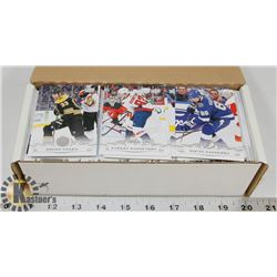 BOX OF OVER 400 UPPER DECK HOCKEY CARDS.