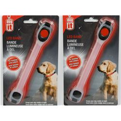 LOT OF TWO NEW! DOG IT LED BAND FOR LEASHES AND
