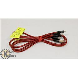 2 LIGHTENING BRAIDED CORD FOR APPLE PRODUCTS