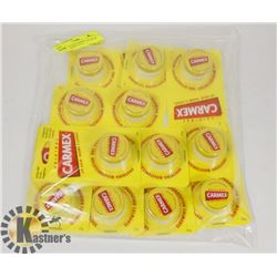 LOT OF 12 NEW CARMEX LIP BALMS - ALL INDIVIDUALLY