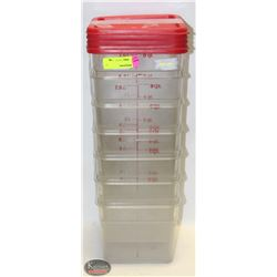 ASSORTED SIZE INGREDIENT BINS W/ LIDS