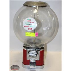 BEAVER GUMBALL MACHINE W/ KEY