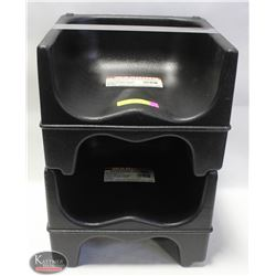 2 COMMERCIAL PLASTIC BOOSTER SEATS
