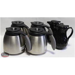 LOT OF 4 CURTIS STAINLESS STEEL INSULATED COFFEE