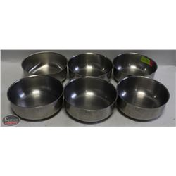 "LOT OF 6 STAINLESS STEEL HIGH QUALITY 7"" MIXING"