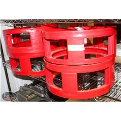 LOT OF 4 KEG STACKERS, RED