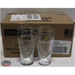 CASE OF NEW GUINNESS 20 OZ BEER GLASSES - PINT