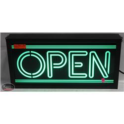 COMMERCIAL LIGHTUP OPEN SIGN (FLUORESCENT)