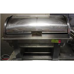 ROLL TOP CHAFING DISH AND STAND (LOOSE HANDLE)