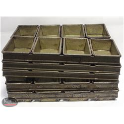 "LOT OF 10 4 BREAD LOAF PANS FOR 4"" X 8"" LOAVES"