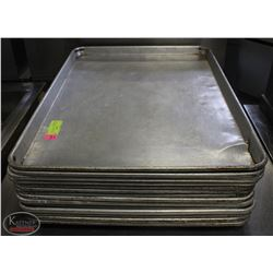LOT OF 14 FULL SIZE BAKING SHEETS/PANS