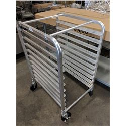 "10 ALUMINUM BUN PAN RACK, 39"" HEIGHT"