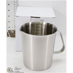 1000ML STAINLESS STEEL GRADUATED MEASURE