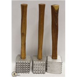 NEW MEAT MALLET TENDERIZERS - LOT OF 3