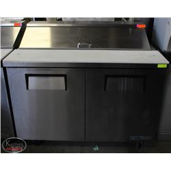 TRUE 4' STAINLESS STEEL TWO DOOR REFRIGERATOR PREP