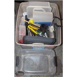 TOTE OF ASSORTED STORAGE CONTAINERS, KITCHEN