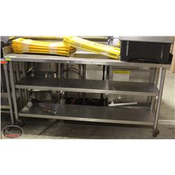 STAINLESS STEEL COMMERCIAL WORK TABLE WITH