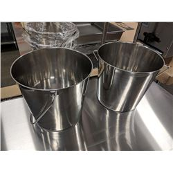 13QT STAINLESS STEEL UTILITY PAILS - LOT OF 2