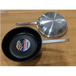 """10"""" COATED ALUMINUM FRY PANS - LOT OF 2"""