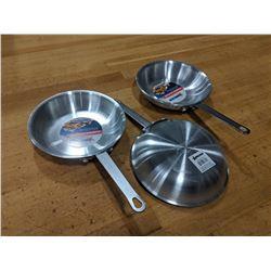 "8"" ALUMINUM FRY PANS - LOT OF 3"
