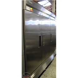 TRUE STAINLESS STEEL THREE DOOR REFRIGERATOR