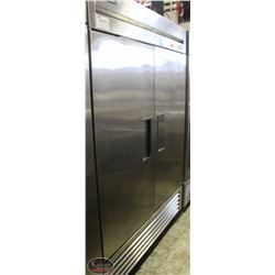 TRUE STAINLESS STEEL TWO DOOR FREEZER