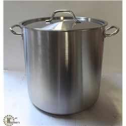 40QT STAINLESS STOCK POT WITH LID