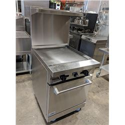 "STRATUS 24"" NATURAL GAS GRIDDLE RANGE ON CASTERS"