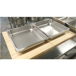 """2/3 SIZE, 2.5"""" DEEP STAINLESS STEEL INSERTS - LOT"""