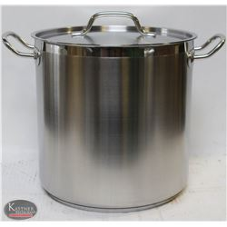 20QT STAINLESS STOCK POT WITH LID