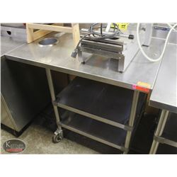 WASSERSTROM S/S COMMERCIAL PREP-TABLE W/ CASTORS