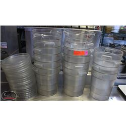 LOT OF 16 ASSORTED SIZE CAMBRO DRY INGREDIENT