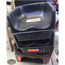 LOT OF 3 PLASTIC BOOSTER SEATS