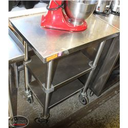 WASSERSTROM S/S PREP CART ON CASTORS W/
