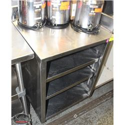 STAINLESS STEEL STORAGE CABINET W/ BACKSPLASH