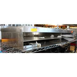 LOT OF 2 STAINLESS STEEL WALL MOUNT SHELVES W/