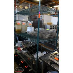 4-TIER COMMERCIAL GREEN-WIRE STORAGE RACK