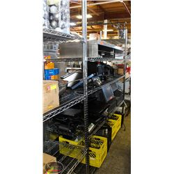 6FT, 4-TIER COMMERCIAL CHROME-WIRE STORAGE RACK